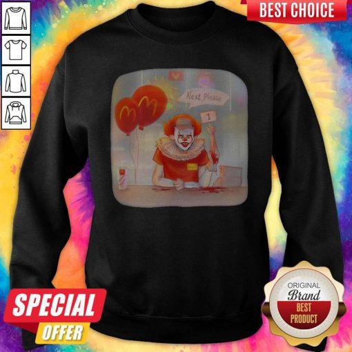 Halloween Joker Mcdonalds Next Please Sweatshirt