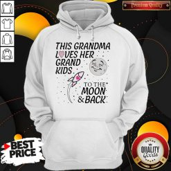 Happy This Grandma Loves Her Grandkids To The Moon And Back Hoodie