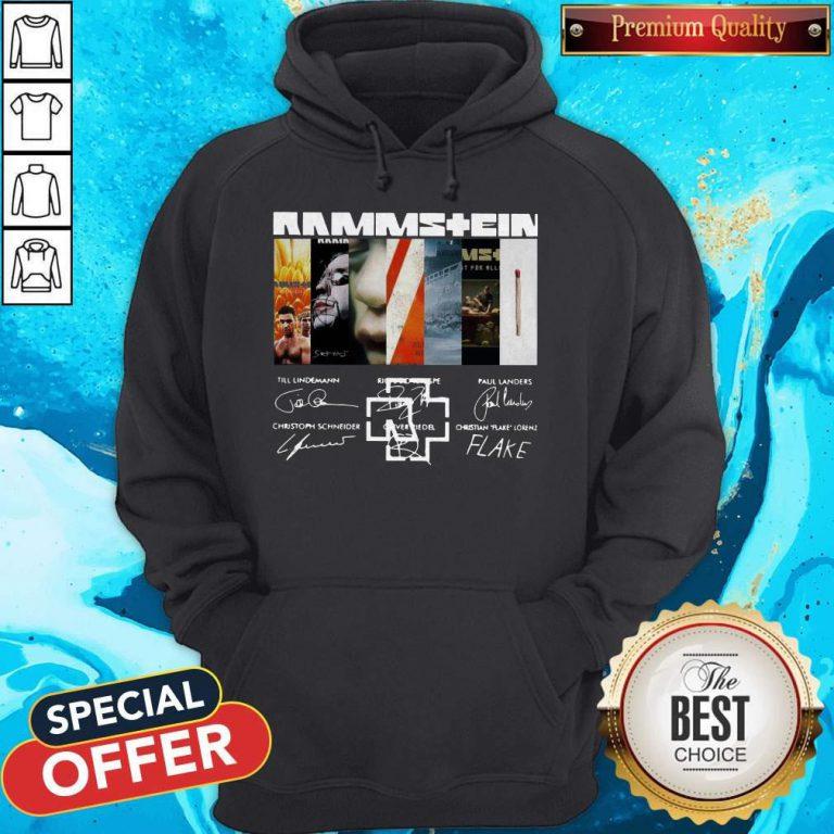 Good Rammstein Band Members Signatures Hoodie
