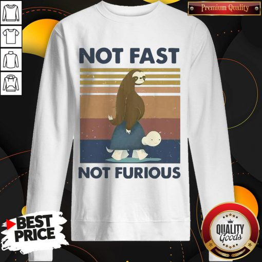 Hot Sloth Turtle Not Fast Not Furious Vintage Sweasthirt