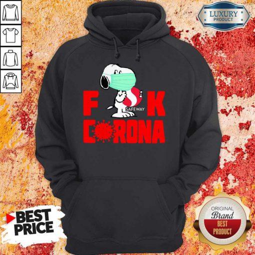 Hot Snoopy Face Mask Hug Safeway Fuck Coronavirus Hoodie
