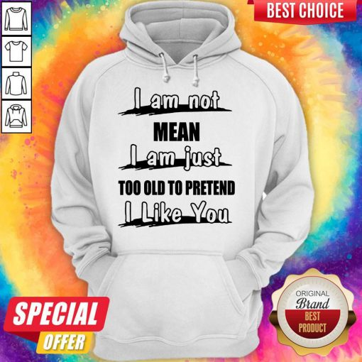 I Am Not Mean I Am Just Too Old To Pretend I Like You Hoodie