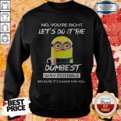 Minions No You'Re Right Let'S Do It The Dumbest Way Possible Because Its Easier For You Sweatshirt