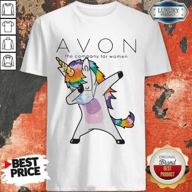 Nice Dabbing Unicorn Mask Avon The Company For Women Logo Coronavirus T-Shirt