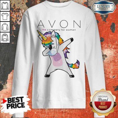 Nice Dabbing Unicorn Mask Avon The Company For Women Logo Coronavirus Sweatshirt