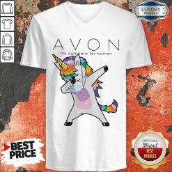 Nice Dabbing Unicorn Mask Avon The Company For Women Logo Coronavirus V-neck