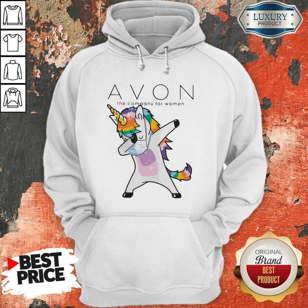 Nice Dabbing Unicorn Mask Avon The Company For Women Logo Coronavirus Hoodie