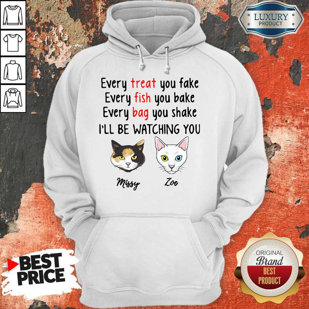 Nice Every Treat You Fake Every Fish You Bake I'll Be Watching You Hoodie