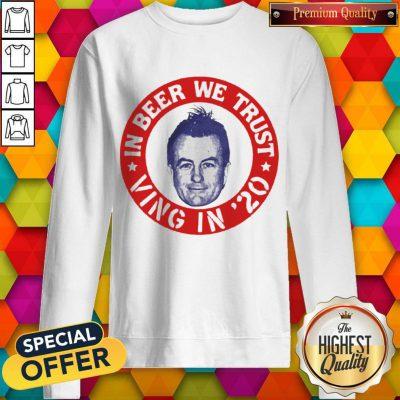 Nice Fear Lee Ving In Beer We Trust Sweatshirt