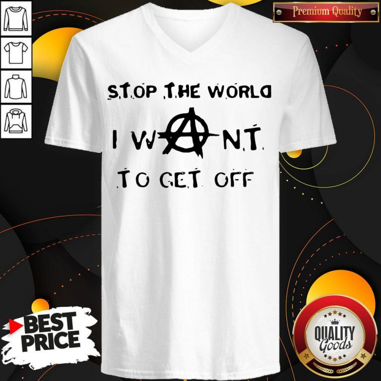 Official Stop The World I Want To Get Off V-neck