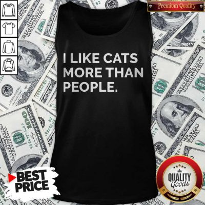 Original I Like Cats More Than People Tank Top