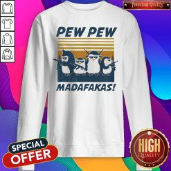 Penguins Pew Pew Madafakas Thug Life Vintage Sweatshirt