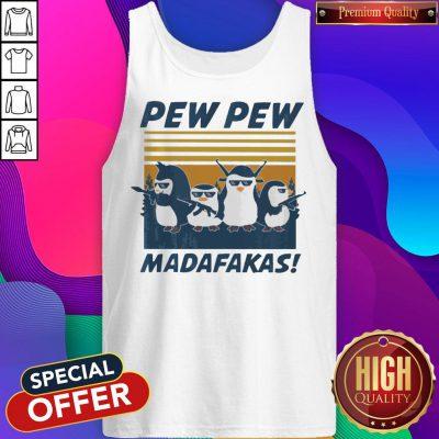 Penguins Pew Pew Madafakas Thug Life Vintage Tank Top