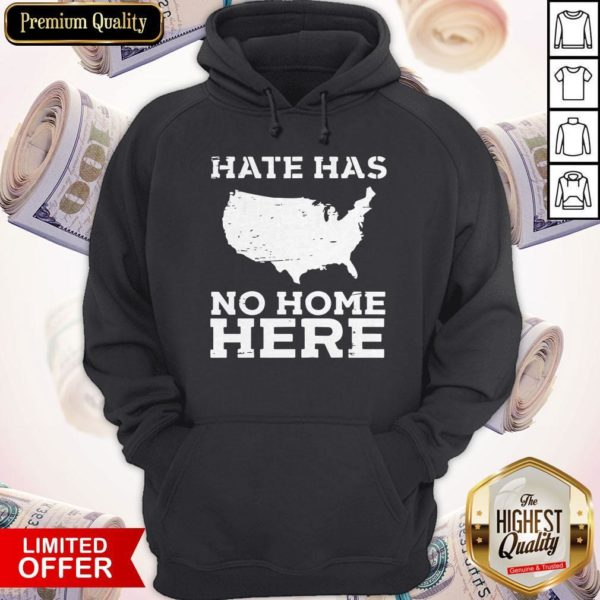 Perfect Hate Has No Home Here Anti Nazi Political Hoodie