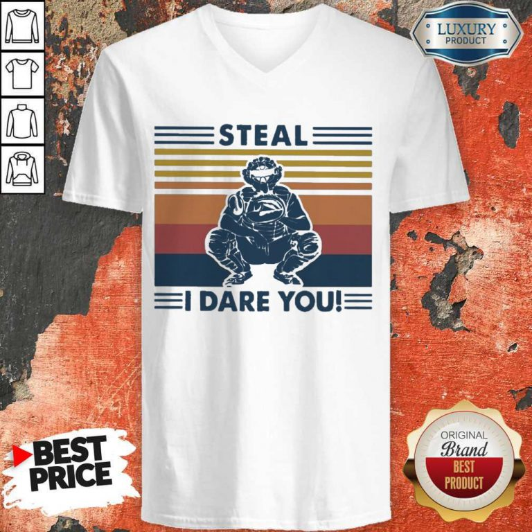 Perfect Steal I Dare You Vintage V-neck
