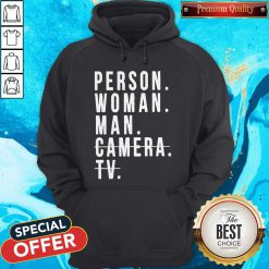 Person Woman Man Camera TV Trump Cognitive Test Hoodie