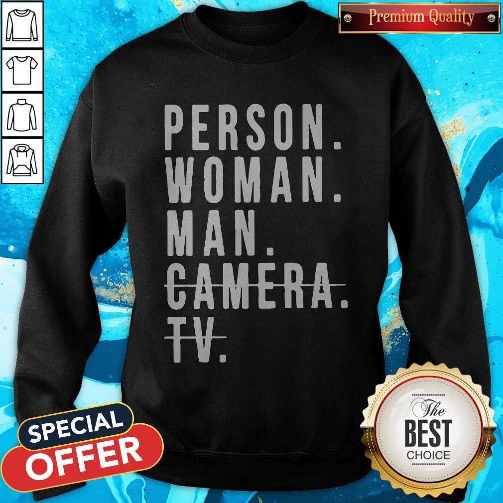 Person Woman Man Camera TV Trump Cognitive Test Sweatshirts