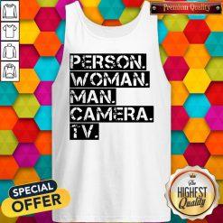 Person Women Man Camera TV Anti Trump Tank Top