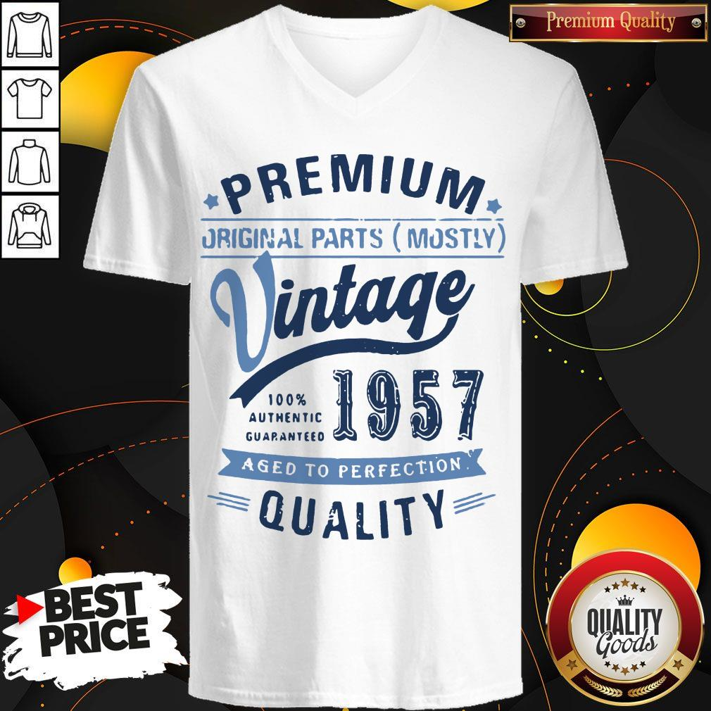 Premium Original Parts Mostly Vintage 1957 Aged To Perfection Quality V-neck