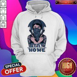 Premium Stay Home Coromavirus Pandemic 2020 Girl Guns Hoodie