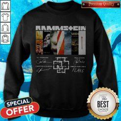 Good Rammstein Band Members Signatures Sweatshirt