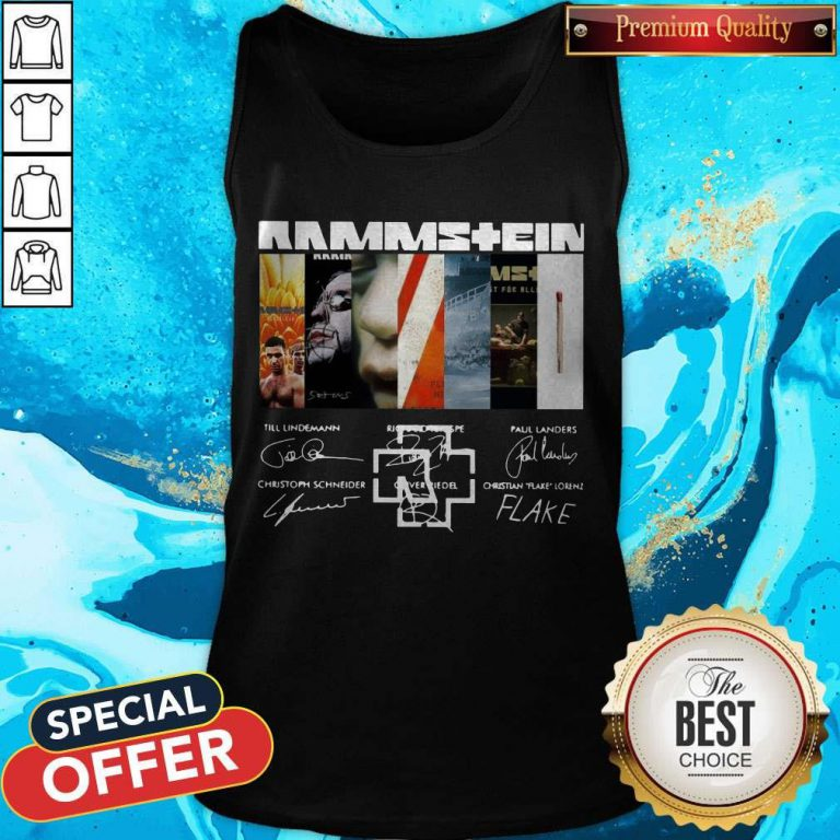 Good Rammstein Band Members Signatures Tank Top