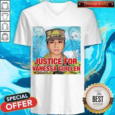 Top Justice For Vanessa Guillen V-neck