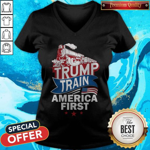 Awesome Join The Trump Train V-neck