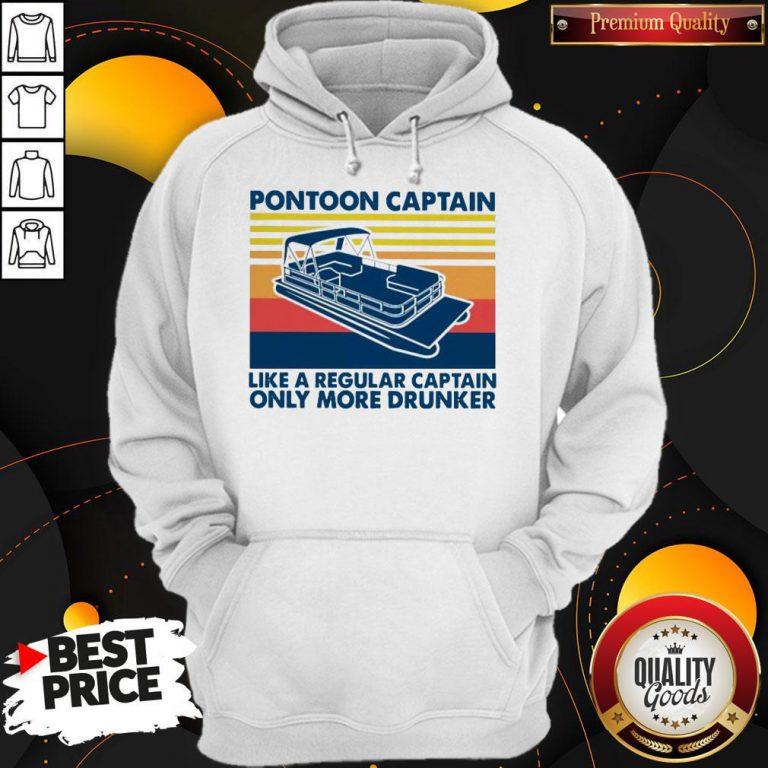 Vintage Pontoon Captain Like A Regular Captain Only More Drunker Hoodie