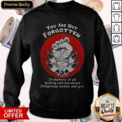 You Are Not Forgotten In Memory Of All Missing And Murdered Indigenous Women And Girl Sweatshirt