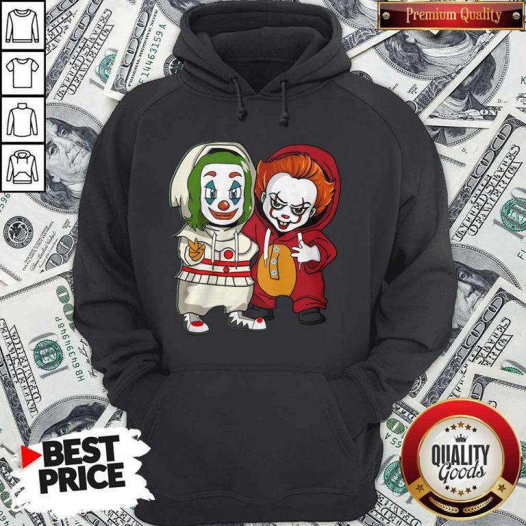 Cute Baby Joker And Pennywise Hoodie
