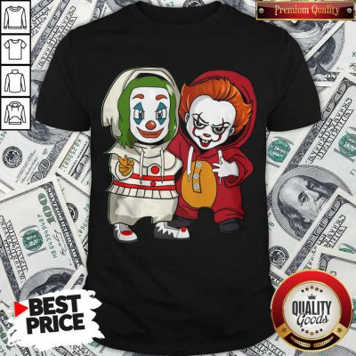 Cute Baby Joker And Pennywise Shirt