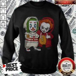 Cute Baby Joker And Pennywise Sweatshirt