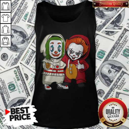 Cute Baby Joker And Pennywise Tank top