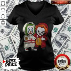 Cute Baby Joker And Pennywise V-neck