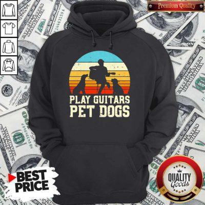 Cute Play Guitars Pet Dogs Vintage Retro Hoodie