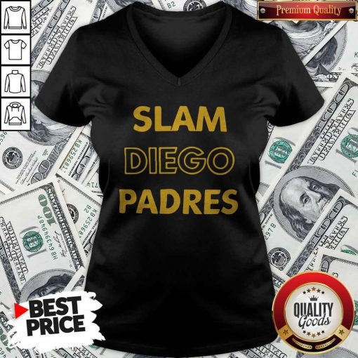 Cute San Diego Padres-SLAM DIEGO V-neck