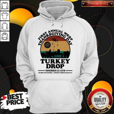 First Annual Wkrp Thanksgiving Day Turkey Drop November 22 1978 Vintage Hoodie