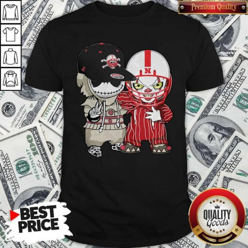 Nebraska Cornhuskers Football Jack Skellington And Pennywise Shirt
