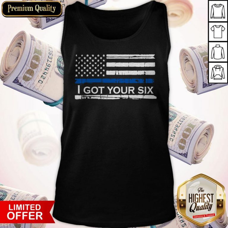 Nice Ameican Flag I Got Your Six Vintage Tank Top