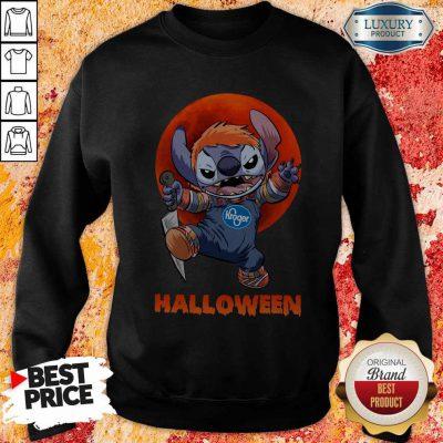 Nice Michael Myers Stitch Kroger Halloween Sweatshirt