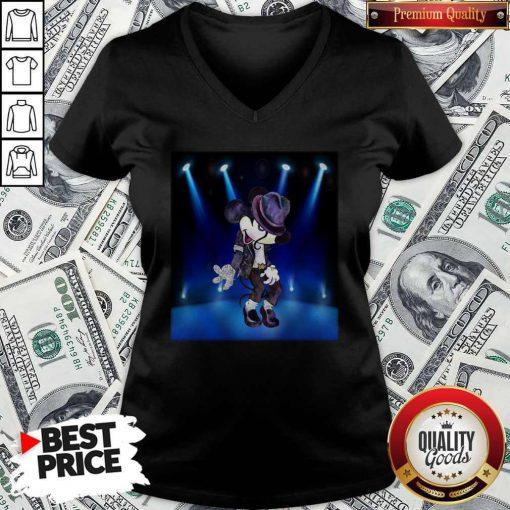 Nice Mickey Michael Jackson Dancing V-neck