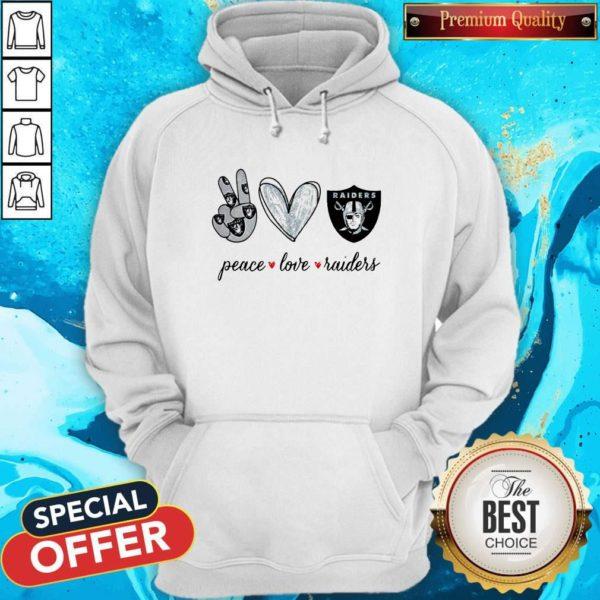 Nice Peace Love Raiders Diamond Hooide
