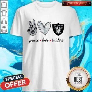 Nice Peace Love Raiders Diamond ShirtNice Peace Love Raiders Diamond Shirt