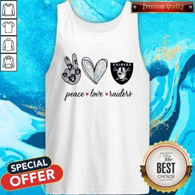 Nice Peace Love Raiders Diamond Tank Top
