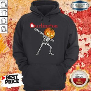 Nice Skeleton Dabbing Halloween Pumpkin Burlington Hoodie