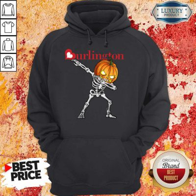 Nice Skeleton Dabbing Halloween Pumpkin Burlington Hoodie