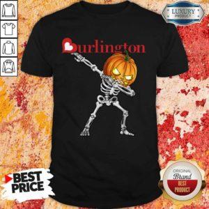 Nice Skeleton Dabbing Halloween Pumpkin Burlington Shirt