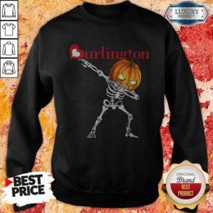 Nice Skeleton Dabbing Halloween Pumpkin Burlington Sweatshirt