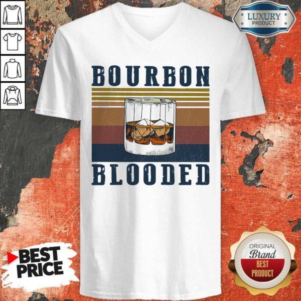 Nice Wine Bourbon Blooded Vintage V-neck